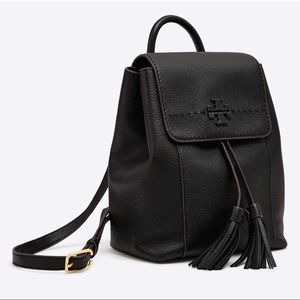 NEW! Tory Burch McGraw Pebbled Leather Backpack